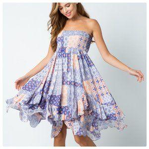 The Kris Bohemian Handkerchief Dress